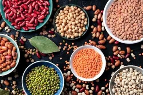 Forskellige bælgfrugter