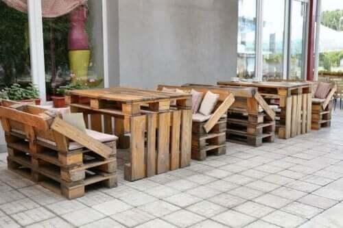 Møbler lavet af paller