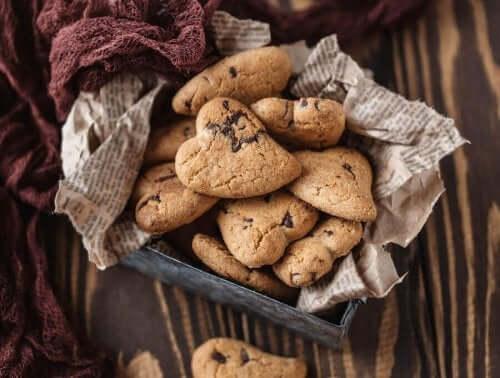 Hjerteformede småkager