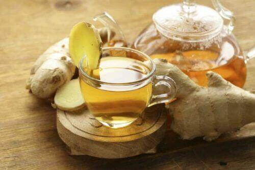 En gængs anvendelse af ingefær er som te