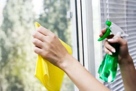 Grønne rengøringsmidler kan også bruges til glas