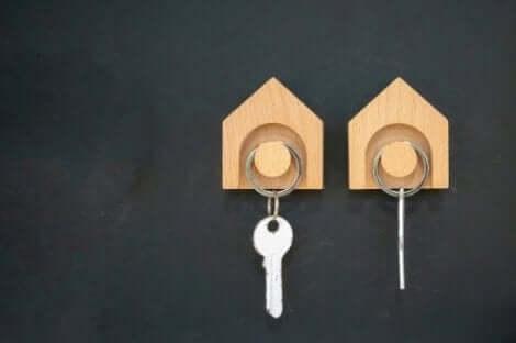 Et fast sted til nøgler kan være smart