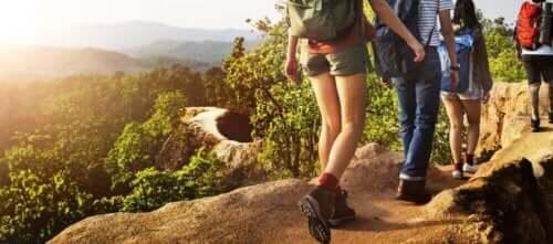 Personer på vandretur