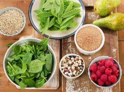Sunde fødevarer med fibre