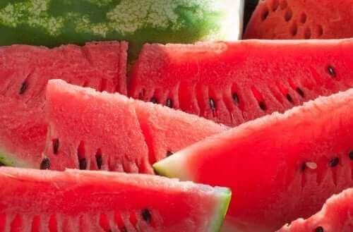 Vandmelon i skiver