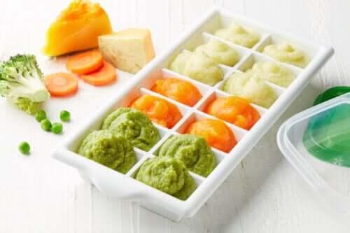 10 gode fødevarer, når du vil fryse babymad